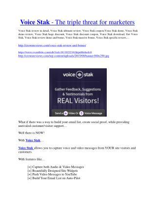 VoiceStack review in detail – VoiceStack Massive bonus