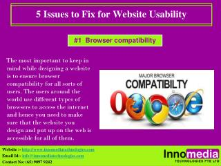 5 Issues to Fix for Website Usability