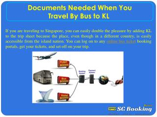 Documents needed when you travel by bus to KL