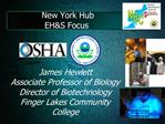 New York Hub EHS Focus