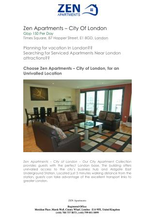Serviced Apartments Central London | Zen Apartments London | Zen Apartments