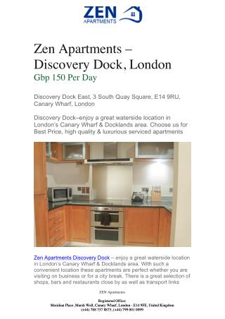 Discovery Dock London - Ability Place | Zen Apartments