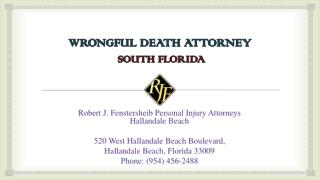Wrongful Death Attorney at South Florida