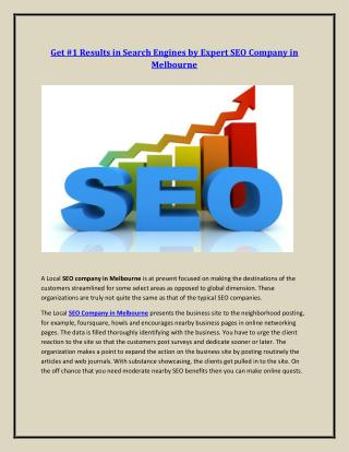 Expert SEO Company in Melbourne