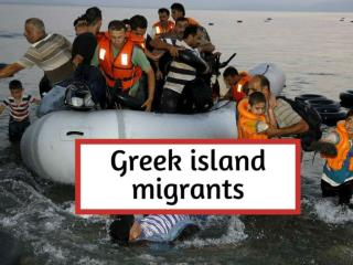 Greek island migrants