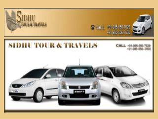 Sidhu Tour & Travels -Taxi Service in Chandigarh