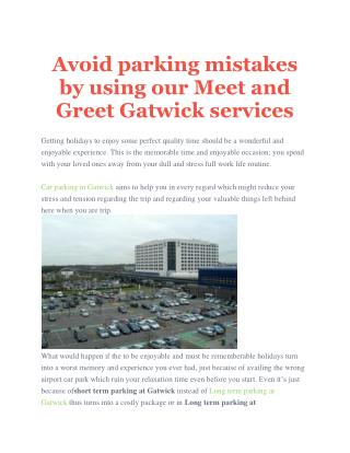 Meet and Greet Gatwick