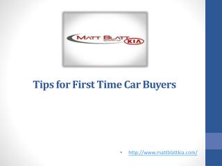 Tips for First Time Car Buyers