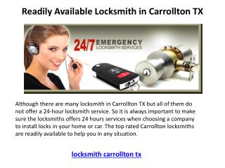 Locksmith in Carrollton TX