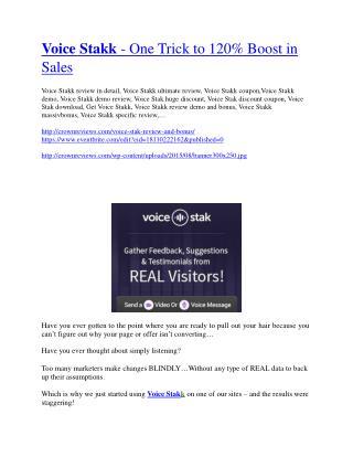 Voice Stakk Review - (FREE) Bonus of Voice Stakk
