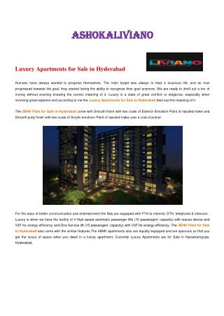 Luxury Apartments for Sale in Hyderabad.