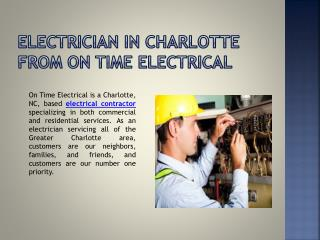 Superior elEctrician Services for Residential, Commercial