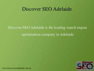 Top SEO Company in Adelaide - Discover SEO Adelaide