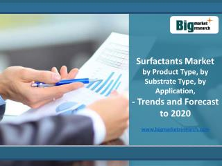 Surfactants Market - Trends and Forecast to 2020