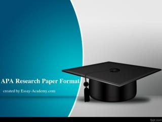 APA Research Paper Format