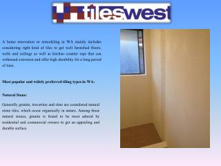 Trustworthy and Best Quality Tiling Service in WA for a your Home