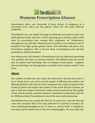Womens Prescription Glasses