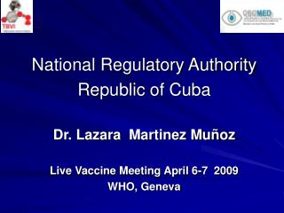 National Regulatory Authority Republic of Cuba