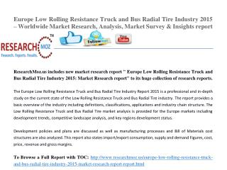 Europe Low Rolling Resistance Truck and Bus Radial Tire Industry 2015 Market Research Report