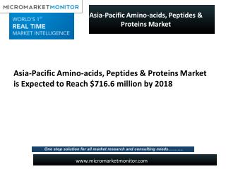 Massive Growth of Asia-Pacific Amino-acids, Peptides & Proteins Market