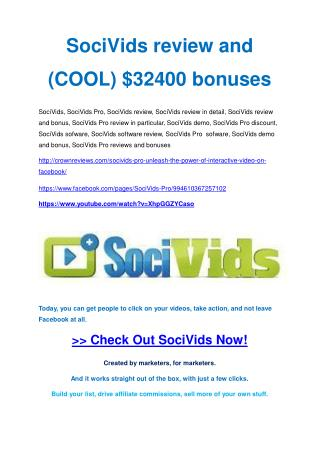SociVids Pro  Review-(GIANT) bonus & discount