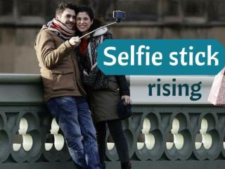 Selfie stick rising