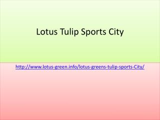 Welcome To Lotus Tulip Sports City