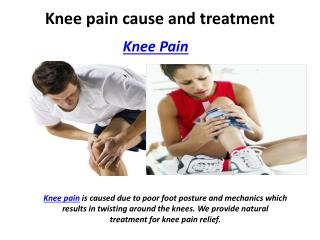 Knee pain cause and treatment