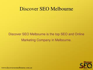 Online Maketing Services offer by Discover SEO Melbourne