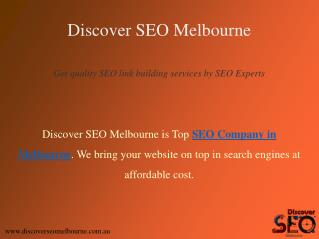 Link Building Services offer by Discover SEO Melbourne