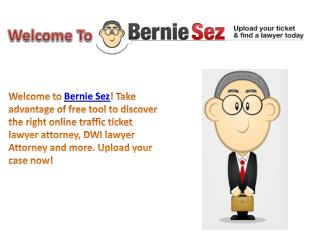 Welcome to the Bernie Sez