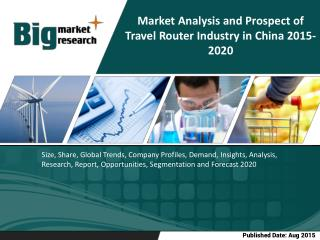 Travel Router Industry in China- Size, Share, Trends, Forecast