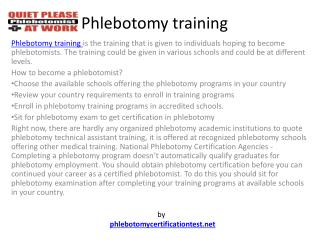 Phlebotomy Training and Certification Schools