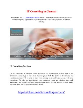 IT Consulting in Chennai