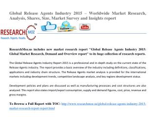 Global Release Agents Industry 2015 Market Research Report