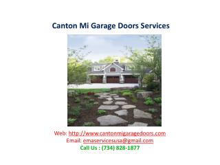 Canton Mi Garage Doors Services