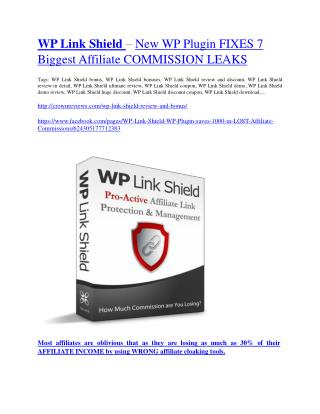 WP Link Shield  Review and (MASSIVE) $23,800 BONUSES