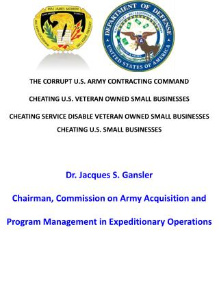 Blog 44 USMC 20150725  Dr. Jacques S. Gansler, Chairman, Commission on Army Acquisition and Program Management in Expedi