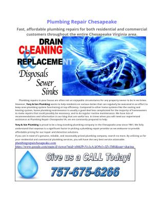 Plumbing Repair Chesapeake VA