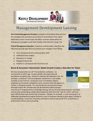 Management Development Lansing