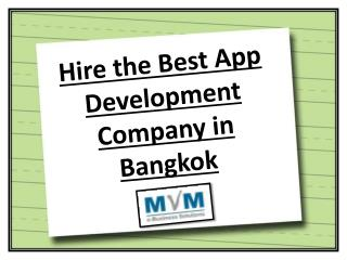 Hire the Best App Development Company in Bangkok
