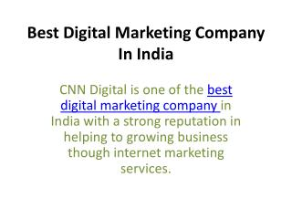 Best Digital Marketing Company In IndiaBest Digital Marketing Company In India