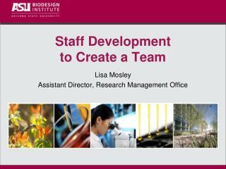 Staff Development to Create a Team