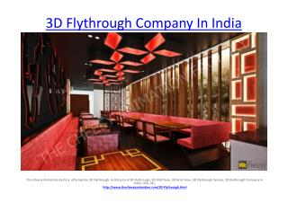 3D Flythrough Company In India