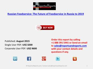 Russian Foodservice Market Size and Forecasts to 2019
