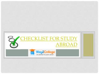 Checklist for Study Abroad