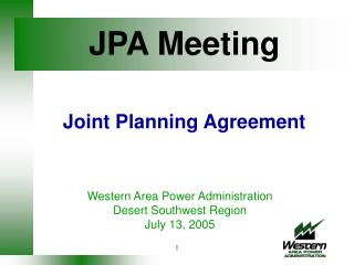 JPA Meeting   Joint Planning Agreement