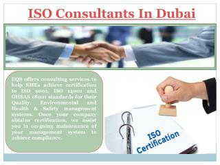 ISO Consultants In Abu Dhabi