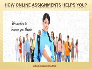 Online Assignments Helps