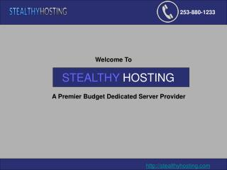 Cheap Dedicated Servers-Stealthy Hosting